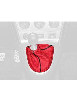 Redline Goods Shift Boot Compatible With Toyota Matrix 2003 08. Black Leather Silver Thread by Redline Goods