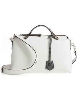 'medium By The Way' Calfskin Leather Shoulder Bag With Genuine Snakeskin Trim by Fendi