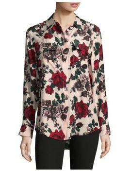 Floral Silk Button Down Shirt by Equipment