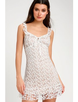 Charmaine White Embroidered Mini Dress by Lulus