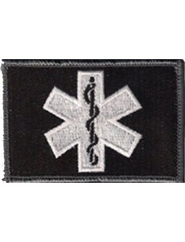 Emt Star Of Life Tactical Patch   Black/White By Gadsden And Culpeper by Gadsden And Culpeper