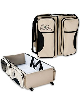 Koalaty 3 In 1 Universal Infant Travel Tote: Portable Bassinet Crib, Changing Station, And Diaper Bag... by Koalaty