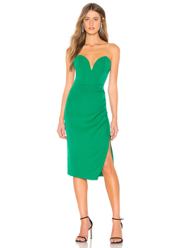 Christian Strapless Midi Dress by Superdown