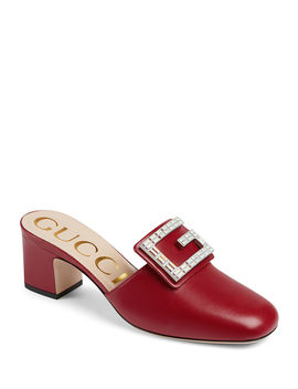 Madelyn 55mm Leather Mules With Square G by Gucci