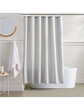 Amazon Basics Herringbone Shower Curtain by Amazon Basics