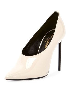 Teddy High Vamp Patent Leather Pumps by Saint Laurent