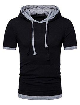 Whatlees Mens Slim Fit Hoodie Casual Hooded T Shirt by Whatlees