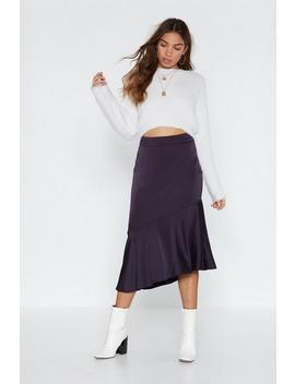 Tall Tails Satin Midi Skirt by Nasty Gal