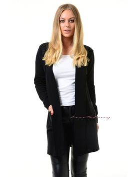Women Open Knitted Sweater Casual Long Sleeve Cardigan Jacket Smart Coat Top. by Unbranded