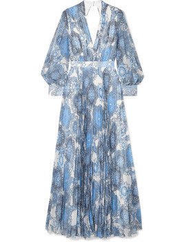 Cheney Cutout Floral Print Georgette Maxi Dress by Alice + Olivia