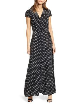 Polka Dot Maxi Dress by Row A