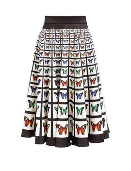 Flip Butterfly Print Neoprene Midi Skirt by Mary Katrantzou