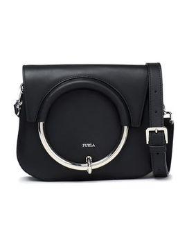 Embellished Leather Shoulder Bag by Furla