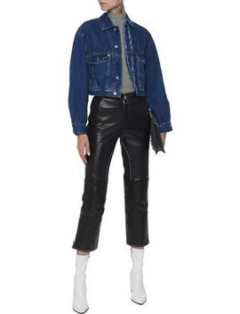Duere Cropped Distressed Denim Jacket by Iro