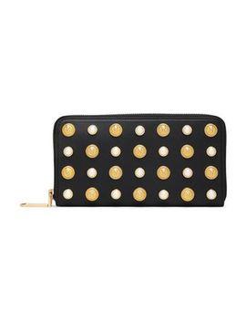 Appliquéd Leather Wallet by Balmain