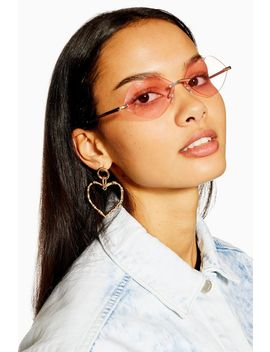 Rimless Lip Shape Sunglasses by Topshop