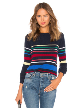 Multi Stripe Boatneck Sweater by Autumn Cashmere