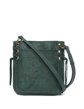 Kay Floral Embossed Leather Shoulder Bag by Lucky Brand