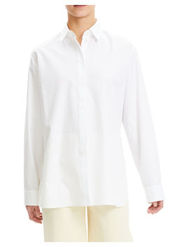 Cotton Menswear Button Down Shirt by Theory