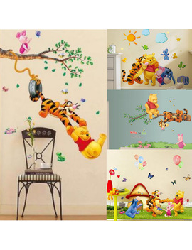 New Winnie The Pooh Tigger Animal Cartoon Vinyl Friends Wall Stickers For Kids Room Kindergarten Classroom Decorative Sticker by Decor Party