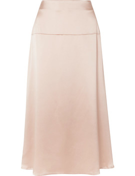 Alara Silk Satin Midi Skirt by La Collection