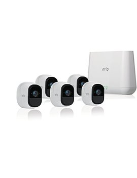 Arlo Pro   Wireless Home Security Camera System With Siren | Rechargeable, Night Vision, Indoor/Outdoor, Hd Video, 2 Way Audio, Wall Mount | Cloud Storage Included | 5 Camera Kit (Vms4530) by Arlo Technologies, Inc