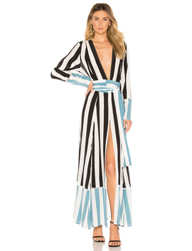 Contrast Maxi Cardigan Dress by We Are Leone