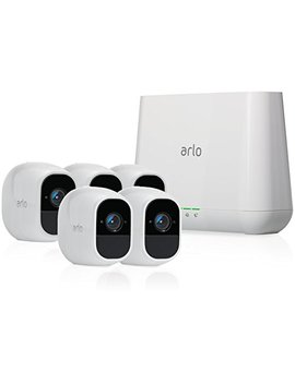 Arlo Pro 2 By Netgear Home Security Camera System (5 Pack) With Siren, Wireless, Rechargeable, 1080p Hd, Audio, Indoor Or Outdoor, Night Vision, Works With Amazon Alexa by Arlo Technologies, Inc
