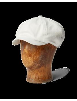 Cotton Herringbone Newsboy Cap by Ralph Lauren