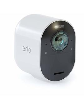 arlo-ultra---4k-uhd-wire-free-security-add-on-camera-|indoor_outdoor-security-camera-with-color-night-vision,-180°-view,-2-way-audio,-spotlight,-siren-|-works-with-alexa-|-(vmc5040) by arlo-technologies,-inc