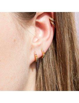 """<Span Data Inner Title="""""""">Rainbow Cz Huggie Hoops   Tiny Gold Hoop Earrings   Cz Hoop Earrings   Gold Hoop Earrings   Tiny Gold Hoop   Hoop   Rainbow  E4 Hu 0209 Multi</Span> by Etsy"""