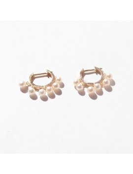 """<Span Data Inner Title="""""""">9ct Gold   Pearl Drop Hoops   Pearl Earrings   Hoop Earrings   Pearl Jewelry   Gold   Gold Hoop   Pearl   Gold Hoop   Dot Hoop   I3 Hu5903</Span> by Etsy"""