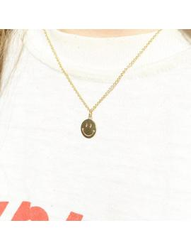 """<Span Data Inner Title="""""""">9ct Gold   Smiley Face   Medallion   Necklace   Tiny Necklace   Gold Pendant   Gold Chain   Smile   Tiny Pendant   Gold   Face  I3 Pd 6047</Span> by Etsy"""