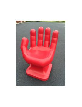 """Red Left Hand Shaped Chair 32"""" Tall Adult Size 70's Retro Eames I Carly New by Etsy"""
