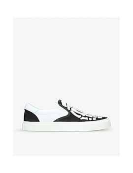 Skel Toe Canvas Trainers by Amiri
