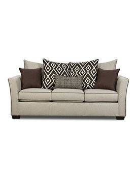 Simmons Upholstery 4202 03 Linen Stewart Sofa Tan by Simmons Upholstery