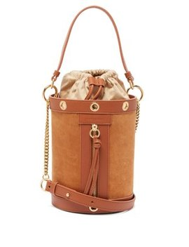 Debbie Suede And Leather Bucket Bag by See By Chloé
