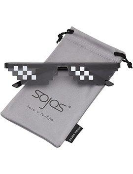 Sojos Thug Life 8 Bit Style Pixel Unisex Sunglasses Sj2049 by Sojos