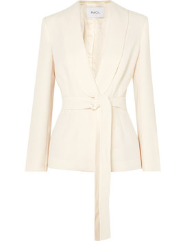 Michelle Belted Crepe Blazer by Racil