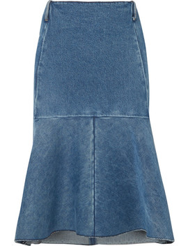 Fluted Denim Skirt by Balenciaga