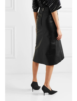 Fluted Leather Skirt by Balenciaga