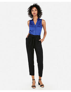 Satin Slim Fit Sleeveless Portofino Shirt by Express