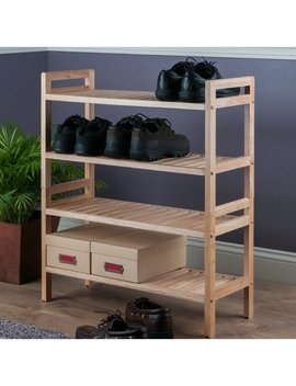 Mercury 12 Pair Shoe Rack by Winsome