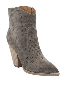 Marc Fisher Ltd Daire Perforated Suede Boots by Marc Fisher Ltd