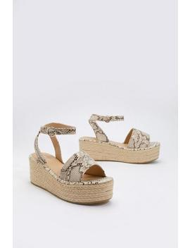 Raise The Snakes Woven Platform Sandals by Nasty Gal