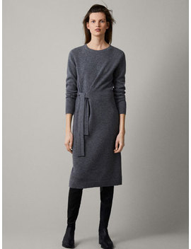 100 Percents Cashmere Tied Dress by Massimo Dutti
