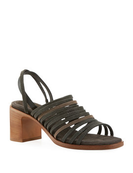 Multi Band Monili City Sandals by Brunello Cucinelli