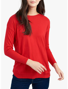 Joules Kerry Boat Neck Jumper, Chilli Pepper by Joules
