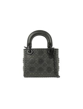 Lady Dior Studded Embossed Ultra Mini Black Leather Cross Body Bag by Dior