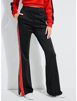 Split Striped Track Pants by Guess